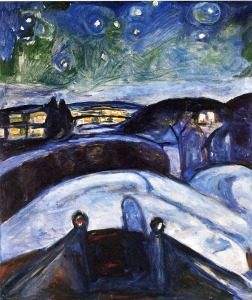 Edvard Munch, Winter Night with Stars