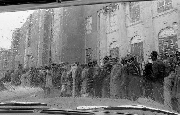 Feb. 7, 1965, African Americans stand in line to attempt to register to take a literacy test in order to register to vote in Selma, AL