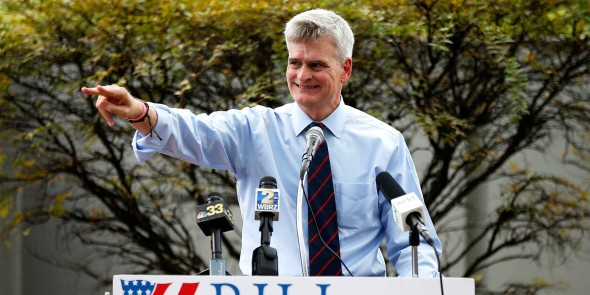 Bill Cassidy campaigning in Baton Rouge, LA.
