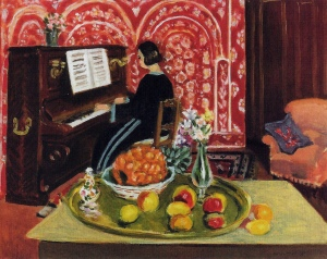 Piano player and still life