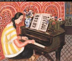 Woman at the piano matisse