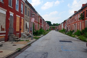 Abandoned row houses, Perlman Place, Baltimore
