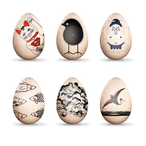 artist-robot-decorated-eggs-benefit-japan-o