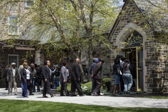 Friends and family gather for Freddie Gray's funeral