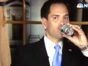 video-heres-marco-rubio-awkwardly-grabbing-for-a-drink-of-water-in-his-state-of-the-union-rebuttal