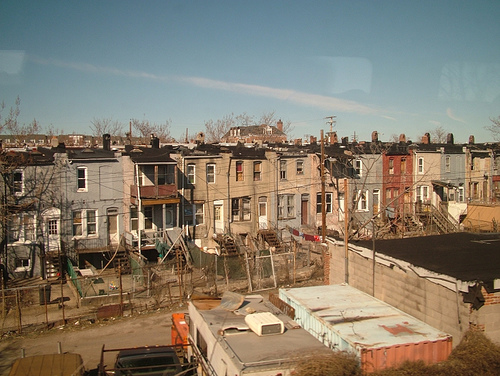 View of East Baltimore from Amtrak train (credit Dave Troy http://davetroy.com/posts/from-the-train-baltimore-looks-like-hell