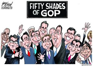 Voters will spend the next year trying to figure out the different shades of the GOP presidential candidates.
