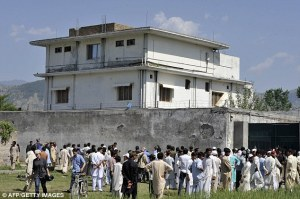 "Osama bin Laden's ""secret"" compound in Abbottabad, Pakistan."