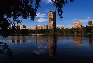 View of BU's Charles River Campus.