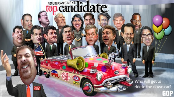 clown car via crooks and liars
