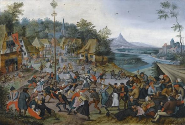 St. George's Kermis with the dance around the maypole, Peter Bruegel