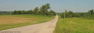 A country road in Randolph County, Indiana