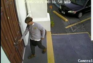 Suspect police are searching for in connection with the shooting at a church in Charleston, South Carolina is seen from CCTV footage released by the Charleston Police Department June 18, 2015. REUTERS/Charleston Police Department