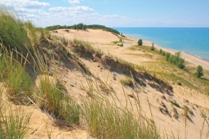 The Indiana Dunes at Lake Michigan