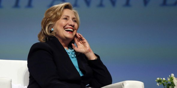 Hillary smiling
