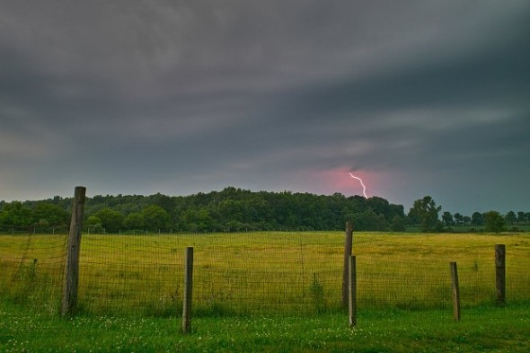 Summer thunderstorm in Indiana