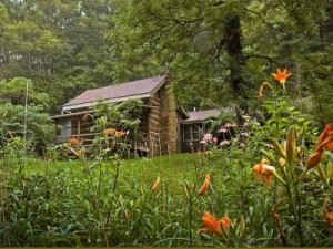 A log cabin in Brown County, Indiana