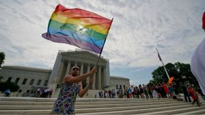 SCOTUS rainbow flag