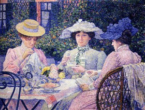 Summer Afternoon Tea in the Garden, Theo van Rysselberghe
