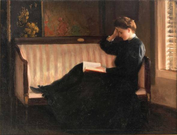 William W. Churchill, Woman Reading on a Settee