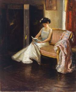 Arthur M. Hazard, Woman Reading in an Interior