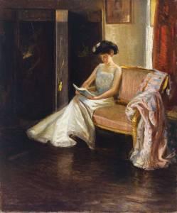 Arthur M. Hazard, Woman Reading in an Interior