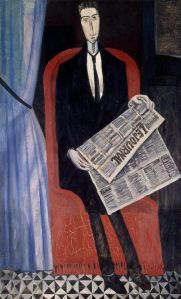 A man reading a newspaper, Andre Derain