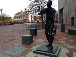 Statue of Bill Russell at City Hall Plaza