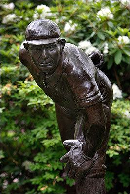 Statue of immortal pitcher Cy Young near the campus of Northeastern University