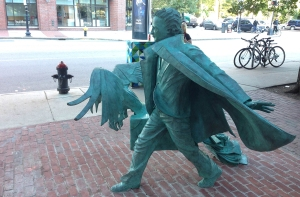 Edgar Allen Poe statue near Boston Common