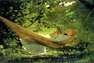 Sunlight and shadow, by Winslow Homer