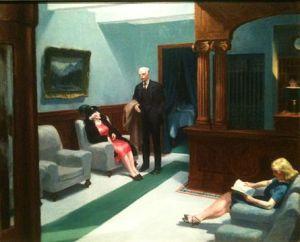 Hotel Lobby, Edward Hopper