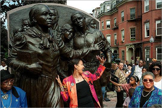 Harriet Tubman memorial in Boston's South End