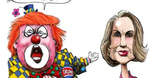 635778612484928387-bensonCOLOR--Trump-Clown-and-Fiorina-091515