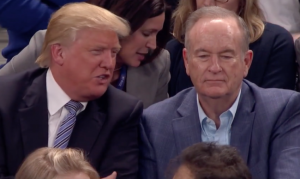 Donald Trump and Bill O'Reilly before the feud