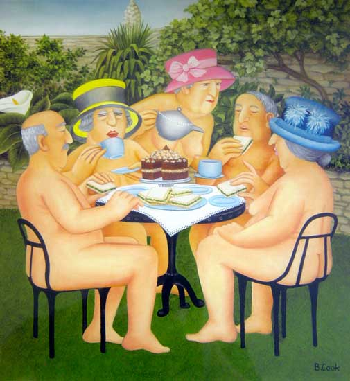 Beryl Cook: Tea in the Garden