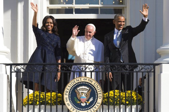 pope-francis-barack-obama-michelle-obama-washington-dc