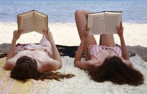Reading-on-the-beach