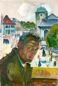Self Portrait in Bergen, Edvard Munch