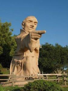 Statue of Junipero Serra on Highway 280 south of San Francisco