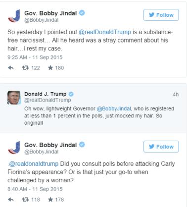 trump jindal tweets