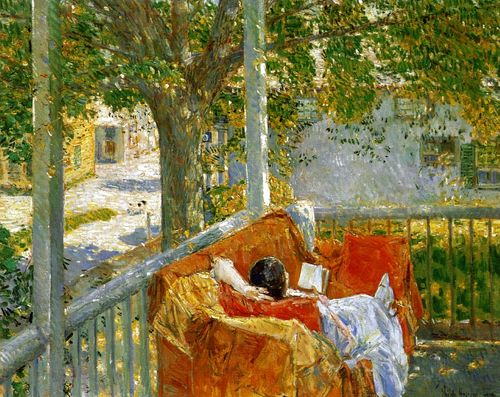 Couch on the Porch, Cos Cob, by Frederick Childe Hassam