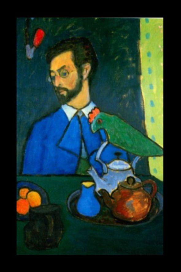 Kandinsky at Tea, by Gabrielle Munter