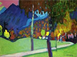 Autumn Study near Oberau, Kandinsky
