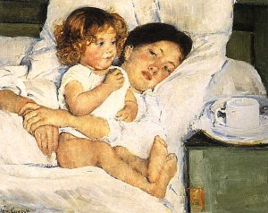 Breakfast in Bed, Mary Cassatt