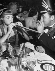 CLARK_1952_young_woman_celebrating_New_Year_eve