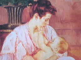 Mary Cassatt Mother nursing baby