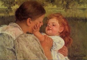 Maternal Caress, Mary Cassatt
