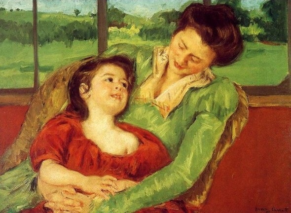 Reine Lefebre And Margot Before A Window, Mary Cassatt