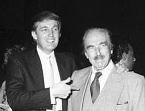 A younger Donald Trump with his father Fred Trump